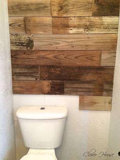 Hometalk :: Bathroom Fence Picket Wall