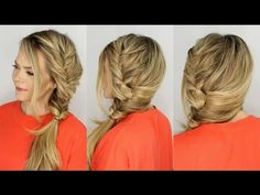 Fishtail Braid in Easier and Faster way . . Fake fishtail braid .. Only 2 minutes or less to do Fishtail Braid ..