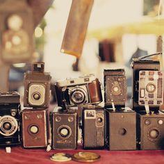 "Camera Photography Collection, Home Decor, Still Life, Vintage, Beige, Cream - Fine Art (8"" x 8""). $25.00, via Etsy."
