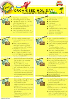 The Organised Holiday Plan – There's More to Life than Housework! Cleaning Checklist, House Cleaning Tips, Spring Cleaning, Cleaning Hacks, Cleaning Schedules, Organised Mum, Getting Organized, Home Organisation, Organization