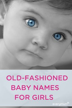 Old-fashioned or vintage baby names for girls are a wonderful way to honour the past while being right on trend. Here are some of the best old-fashioned names for girls - sure to stand the test of time. English Baby Girl Names, Vintage Baby Girl Names, Vintage Names, Unique Baby Names, Vintage Boys, Retro Baby, Old Irish Names, Irish Girl Names, Old Girl Names