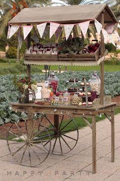 Mesas dulces con look de carrito de dulces. #MesasDulces