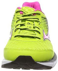 Mizuno Wave Rider 18 (W), Chaussures de Running Entrainement Femme - Multicolore (Lime Punch/Electric) - 37 EU, 4.5 UK: Amazon.fr: Chaussures et Sacs