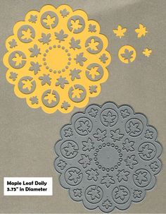 Image result for cards made using Frantic Stamper die Maple Leaf Doily