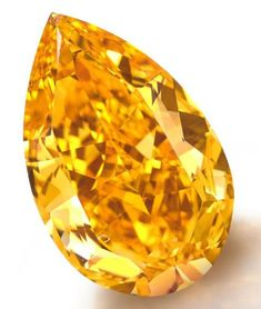 14.82-carat fancy vivid orange pear-shaped diamond