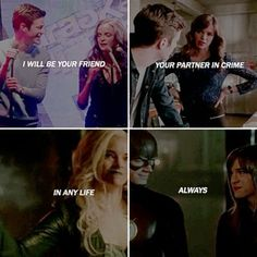 I will be you friend.Your partner in crime. In any life.ALWAYS. #snowbarry #FlashFrost