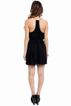 racer back simple black dress
