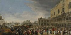 Luca Carlevarijs (1663–1729) The reception of Henri Charles Arnauld de Pompone in Venice in 1706. Alternative title(s): English: The Reception of French amabasador Cardinal César d'Estrées 1701 in Venice (RKD images, Kunstwerknummer 44929). Nederlands: Aankomst van een Prelaat in Venetië (oude titel; RKD images, Kunstwerknummer 44929)Date1706-08 Mediumoil on canvasHeight: 130 cm Width: 260 cm Rijksmuseum Amsterdam Accession numberSK-C-1612 Object history Date unknown: acquired by The…