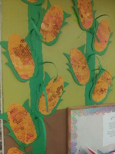 Fall autumn bulletin board display corn Indian corn