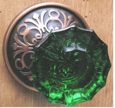 "That purple doorknob I re-pinned got me thinking. My studio's door needs some ""jewelry""!"