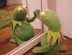 Kermit's only friend😔~🐸 Funny Kermit Memes, Cartoon Memes, Funny Relatable Memes, Cartoons, Sapo Kermit, Reaction Pictures, Funny Pictures, Sapo Meme, Karate Kid