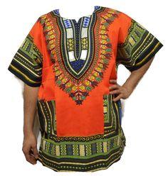 "African Traditional Shirt Men Dashiki Blouse Black History Month 1X=64""-66""aroun #Handmade #DashikiBlouse"