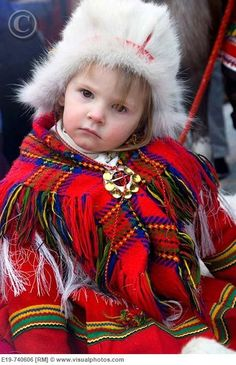 Young Sami (Lapp) girl, Northern Sweden