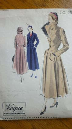 vogue Couturier Design 490. I actually have this pattern and want to make it for myself.  So Classy!