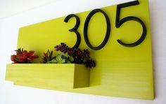 10 интересных идей: дизайн номера дома