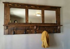 Hey, I found this really awesome Etsy listing at https://www.etsy.com/listing/181661539/coat-rack-wall-coat-rack-mirrored-coat