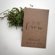 125 Rustic Seed Packet Favors and Escort Cards, Handmade Mini Kraft Envelope DIY