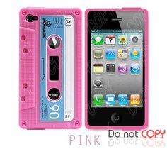 6 pcs/ lot  iphone 4s 4gsRetro Cassette Tape Silicon Case Cover for iphone 4 4g case,Free Shipping $5.00