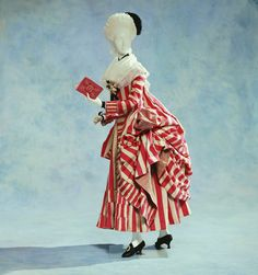1780s Gown from the Kyoto Institute. I love stripes!!