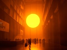 The Weather Project (2003) by Olafur Eliasson in the Turbine Hall.   http://partnouveau.com/wp-content/uploads/2013/04/url-5.jpeg