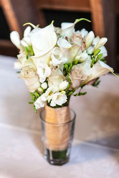Bridal Bouquet, White Calla Lillies & Pink roses.