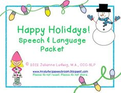 Holiday Speech & Language Activities - Pinned by @PediaStaff – Please Visit  ht.ly/63sNt for all our pediatric therapy pins