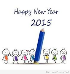 Kids drawing Happy New Year 2015