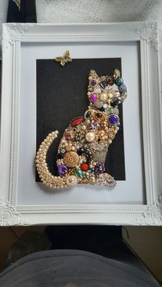 My jewellery cat picture/art...  I made over the weekend ..I'm rather pleased with it :)