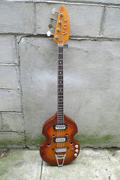 1960's Vox Spyder Bass Guitar Vintage Sunburst