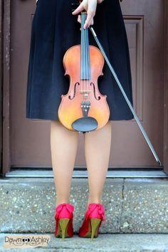 Photoshoot... Violin... Senior pictures...