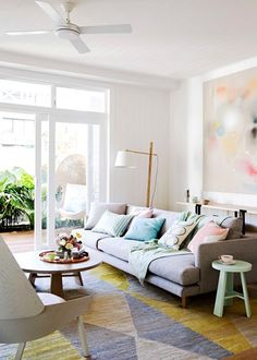 Using a pastel palette at home - Homes, Bathroom, Kitchen & Outdoor | Home Beautiful Magazine Australia