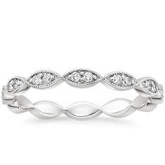 Brilliant Earth conflict free wedding rings platinum eternity diamond ring