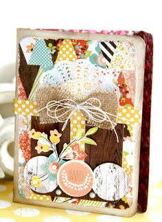 Designer Emeline Seet used Webster's Pages Family Traditions to make this STUNNING card - via Scrapbook.com