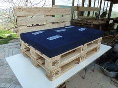 Outdoor Pallet Sectional Set / Maxi Divano Fatto Con I Pallet Lounges & Garden Sets Pallet Sofas
