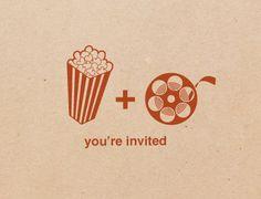 20 movie party invitations, free personalization. $20.00, via Etsy.