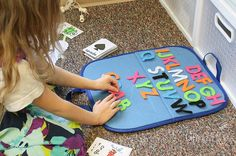 Spelling Practice with Felt Letters