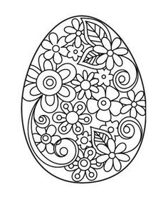 Free Hand Embroidery Pattern: Easter Egg with Flowers. I would love to have time to actually embroider something. Think I'll use this as a coloring page for the time being. Hand Embroidery Patterns, Embroidery Designs, Embroidery Hoops, Flower Embroidery, Paper Embroidery, Desenho Kids, Easter Coloring Pages, Quilling Patterns, Quilling Designs