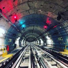 La metropolitana al #Lingotto vista da dareksea #metrotorino vista dal primo vagone #instagram #igersitalia #igerstorino #insturin #instatorino #metropolitan #metropolitana