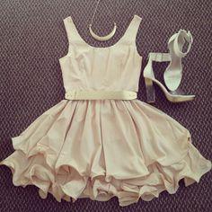 Fun and Flirty white dress---- great party dress!! :: Vintage Fashion:: Flirty Fashion:: white party dress