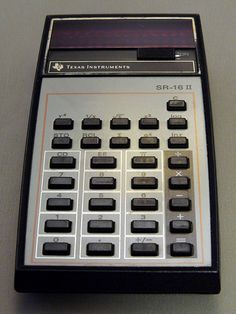 Texas Instruments SR-16 II Red LED Calculator, Sealed Battery Pack, Made in the USA, Circa 1975.