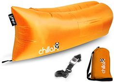 ChillaX Air Lounger - Inflatable Lounger Air Lounge Chair Beach Pool Air Bed - Outdoor Recreation Hammock for Travelling Camping & Music Festivals - Free Carry Bag and Bottle Opener. ULTIMATE INFLATABLE AIR LOUNGER + CARRY BAG + BEER OPENER - Do you want to be the COOLEST person whether you go to the Beach, Park or even Camping and also enjoy the Most RELAXING Air Lounge ? TRY NOW the hottest prospect on the market - The Innovative ChillaX Inflatable Mattress was designed to increase Comfort…