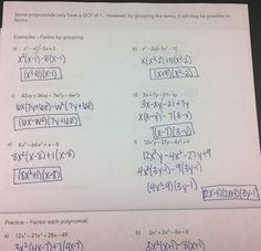 Printables Factoring Polynomials Worksheet With Answers Algebra 2 pinterest the worlds catalog of ideas factoring polynomials flipbook im using this as notes in my unit