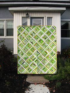Green String Quilt  /thoughtandfound