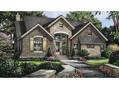 Floor Plan AFLFPW24863 Is A Beautiful 1898 Square Foot + Cottage Home Design  With 3 Garage Part 57