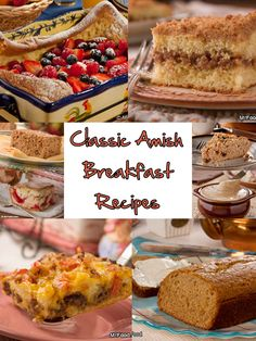 Wanna know who we trust most to get our day started on the right foot? Why, it's the Amish, of course! Check out our fantastic collection of Classic Amish Recipes for Breakfast, and get your day off to a rousing start. Healthy Breakfast Recipes For Weight Loss, Vegetarian Breakfast Recipes, Breakfast Healthy, Healthy Snacks, Healthy Recipes, Healthy Kids, Amish Recipes, Old Recipes, Mr Food Recipes
