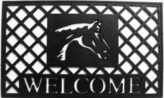 "Stallion 18""x30"" 100% Rubber Mat . $24.99. Reassuring, non-slip rubber that won't crack or buckle. Makes a great gift - Free gift enclosure. Resists fading, mold and mildew. In Stock - Ships in 1-2 days. Hoses Clean. Momentum Mats has been a trusted manufacturer for 29 years and takes great pride in the fact that we use only 100% natural rubber in our doormats.  Our manufacturing facilities have the most advanced and cost effective machinery available which allows u..."