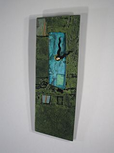 Green Blue Wall Clock: Eileen Young: Ceramic Tiled Clock - Artful Home