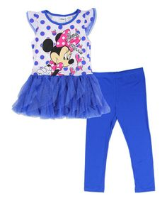 Loving this Blue Minnie Mouse Tee & Leggings - Toddler & Girls on #zulily! #zulilyfinds