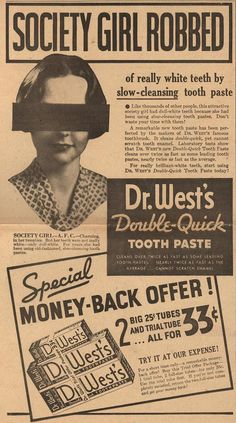 Dr. West's Double-Quick Toothpaste: your teeth get whiter, but what's up with the blindfold?