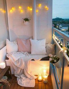 Diy, room decor and some other ideas tiny balcony, small balcony decor, small Cozy Apartment, First Apartment, Apartment Living, Apartment Ideas, Bedroom Apartment, Living Rooms, Cheap Apartment, Apartment Design, Apartment Goals